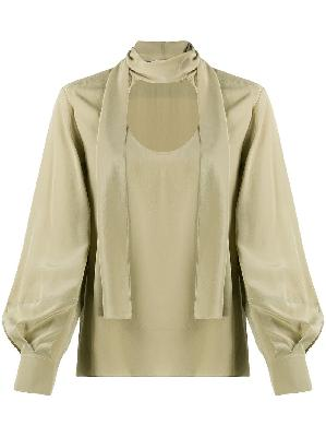 Chloé front tie fastening blouse