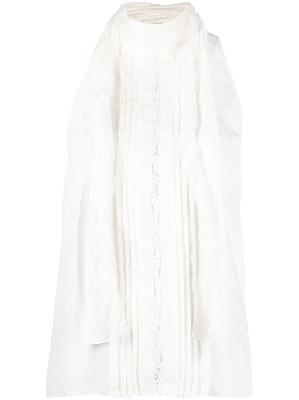 Chloé tulle lavallière tie silk top