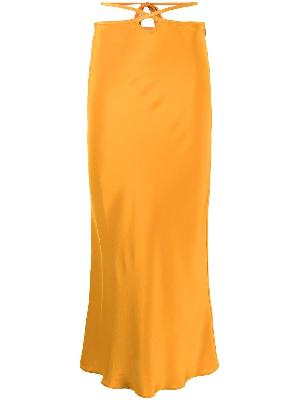 Christopher Esber cut-out tie skirt