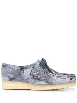 Clarks Originals Wallabee abstract-print lace-up shoes