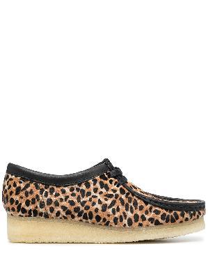 Clarks Originals Wallabee leopard-print shoes