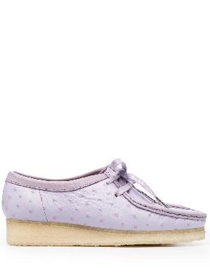 Clarks Originals texture lace-up shoes