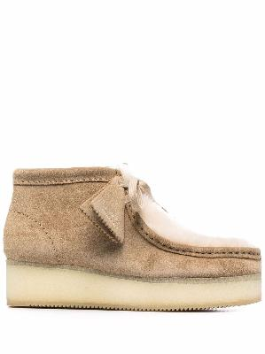 Clarks Originals shearling wedged Wallabee shoes