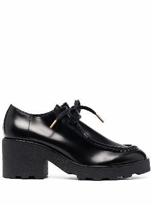 Clarks Originals Wallabee mid-heel lace-up shoes