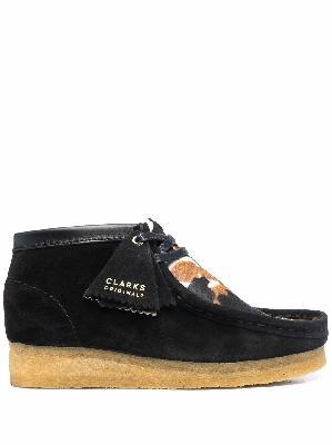 Clarks Originals Wallabee cow-print suede shoes