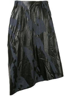 Comme Des Garçons Homme Plus camouflage print skirt