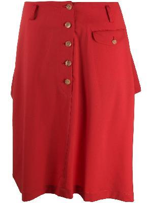 Comme Des Garçons Homme Plus wool knee-length skirt