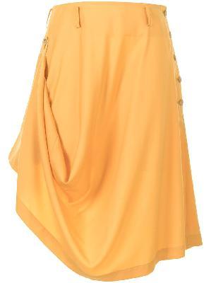 Comme Des Garçons Homme Plus draped asymmetric-hem skirt