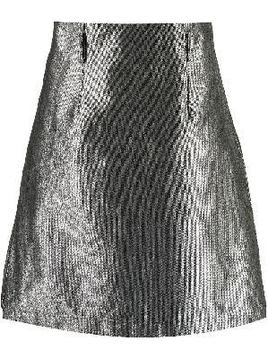 Comme Des Garçons Homme Plus metallic belted denim skirt