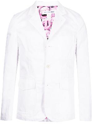 Comme Des Garçons Shirt single-breasted cotton blazer