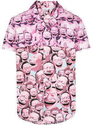 Comme Des Garçons Shirt Yue Minjun-print poplin shirt