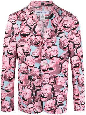 Comme Des Garçons Shirt x Yue Minjun unlined print blazer