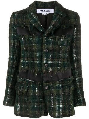 Comme Des Garçons distressed tweed blazer