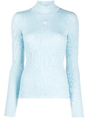 Courrèges logo print ribbed knit jumper