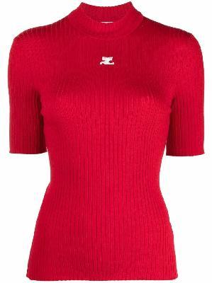 Courrèges ribbed knit turtleneck jumper