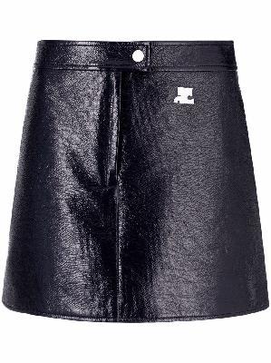 Courrèges faux-leather mini skirt