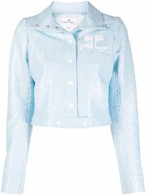 Courrèges chest logo-print jacket