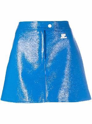 Courrèges logo-print skirt