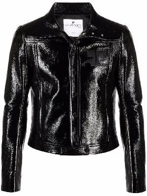 Courrèges fitted vinyl jacket