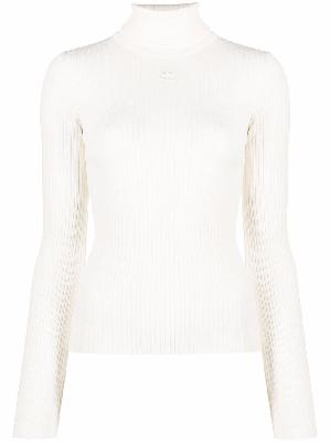 Courrèges roll-neck fitted jumper
