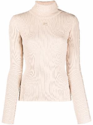 Courrèges roll-neck knit jumper