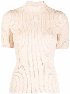 Courrèges logo short-sleeve knit top
