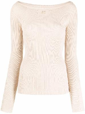 Courrèges rib-knit fitted top
