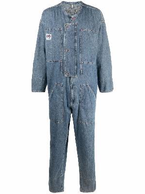 Diesel Red Tag collarless cotton denim jumpsuit