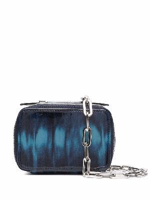 Diesel tie dye-print glossy purse