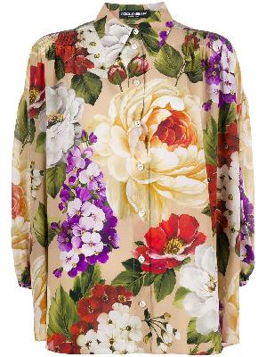 Dolce & Gabbana silk loose fit floral shirt