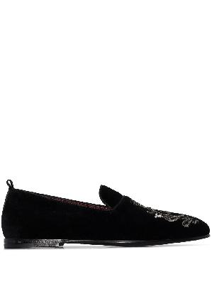 Dolce & Gabbana DG embroidered slippers