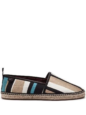 Dolce & Gabbana stripe pattern espadrilles