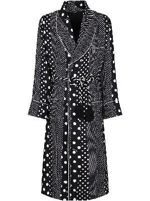 Dolce & Gabbana multi-panel polka-dot print silk gown