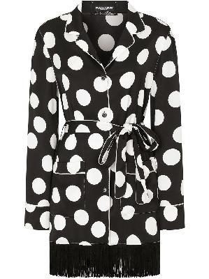 Dolce & Gabbana polka-dot print pajama shirt