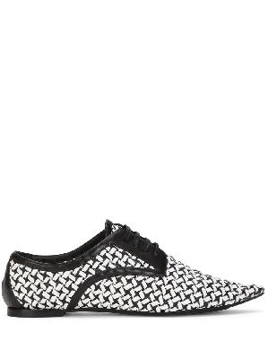 Dolce & Gabbana Bellucci two-tone woven Derby shoes