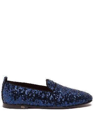 Dolce & Gabbana sequinned flat slippers