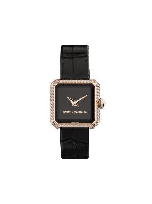 Dolce & Gabbana diamond embellished 24mm watch