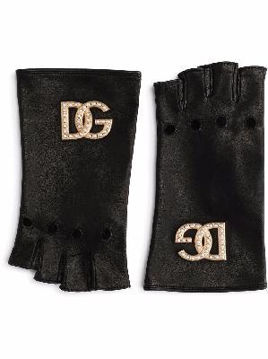 Dolce & Gabbana fingerless leather gloves