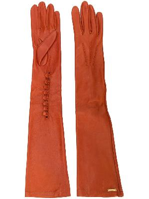 Dsquared2 calf leather long gloves