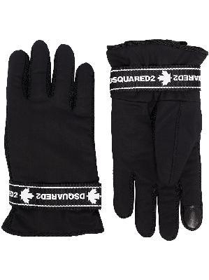 Dsquared2 logo tape gloves