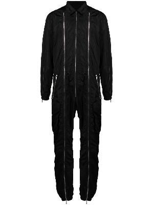 Dsquared2 Triple Zip long-sleeved jumpsuit