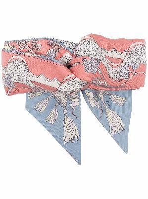 Emilio Pucci silk graphic-print headband
