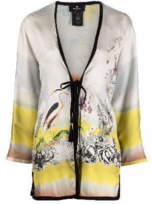 ETRO floral-print silk kimono