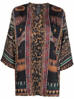 ETRO patchwork silk kimono