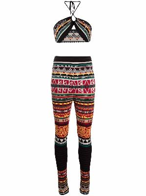 ETRO patterned-jacquard wool two-piece
