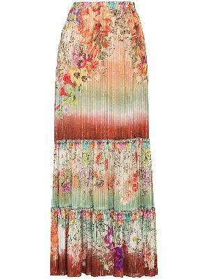 ETRO long beach flower skirt