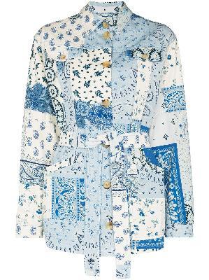 ETRO paisley-print denim jacket