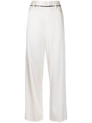 Fleur Du Mal stretch silk pajama bottoms