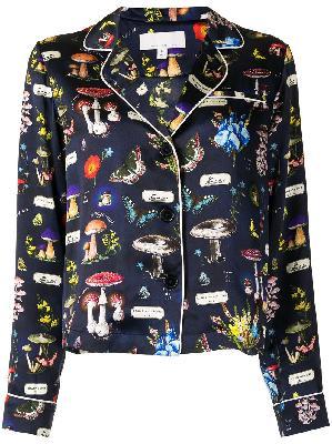 Fleur Du Mal Fleur mushroom-print pajama top