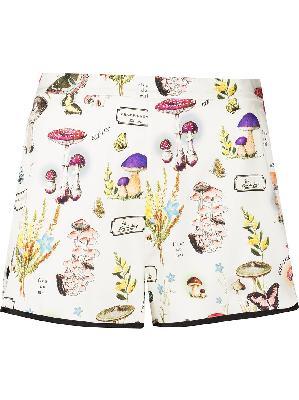 Fleur Du Mal mushroom-print pyjama shorts